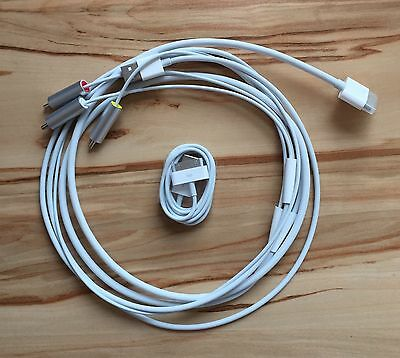 Apple AV-Kabel (Composite-Video) + Apple 30-polig auf USB Kabel, NEU