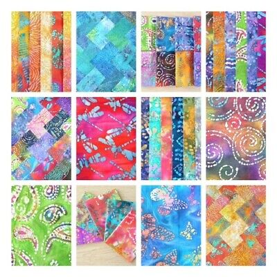 Batiks Charm Packs, Jelly Roll Strips, Layer Cake, Metre Cotton Patchwork Fabric