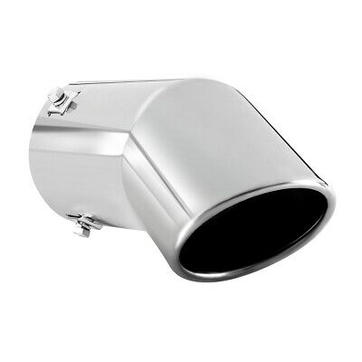 Stainless Steel Chrome Effect Car Muffler Tip Exhaust Pipe Fit 1.5-2.75 inch ⌀