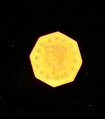 1856 california fractional octagon liberty gold