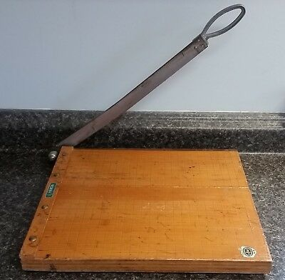 """Vintage HANSA JPE Approved Photographic Paper Cutter, 12""""x12"""" Made in JAPAN"""