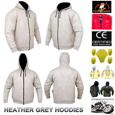 Men Motorbike Water Repellent Hoodie Fully Reinforced with DuPont™ Kevlar® fiber