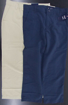 Boys Chaps $40 Uniform/Casual Khaki or Navy Wicking Pants Husky Size 12H - 18H
