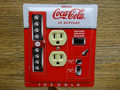Vintage Coke Vending Machine Tin Outlet Cover Made From Coca Cola Tins Soda Can