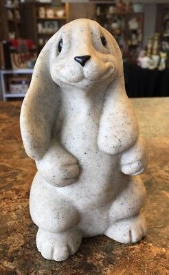Quarry Critters Rabbit Bunny (Rocco) Stone Figure Second Nature Designs