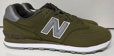 New Balance 574 Size 10.5 Olive Green Mens Classic Lifestyle Shoe Sneaker