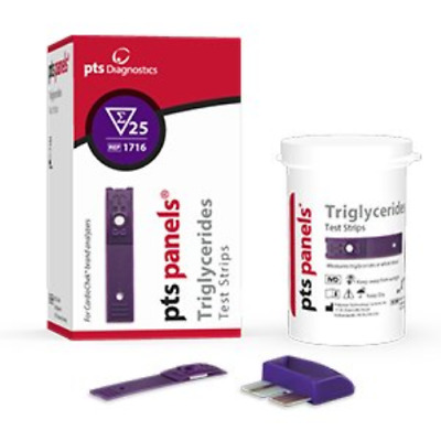 PTS Panel #1717 Test Strips Triglyceride Test 6 strips/box for CardioChek PA or