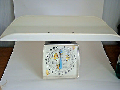 Vintage Hanson White Baby Nursery Scale Model 35  Weighs to 25LB