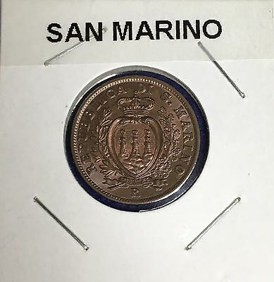 1938 San Marino 10 Centesimi KM#13 **Gem BU Red/Brown Blazer!!!**