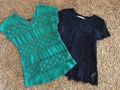 Womens ~MAURICES~ Lace Shirt Top Blouse Lot ~NICE~ Small