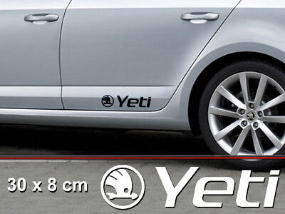 Yeti 30x8cm Vinyl Sticker Auto Tuning Accessories Skoda 4x4 Adventure