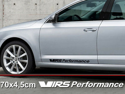 vRS Performance 70x4,5cm Vinyl Sticker Auto Accessories Skoda Fabia Octavia