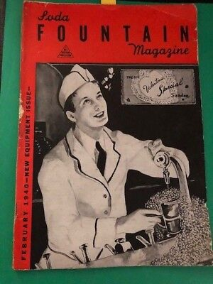 Soda Fountain Magazine Machines  Februaury 1940 Volume 39 Number  2