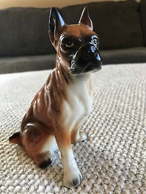 Japan Glass Boxer Dog Figurine