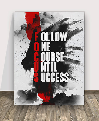 Focus Canvas Print Framed Wall Office Decor Modern Art Entrepreneur Arts Meaning
