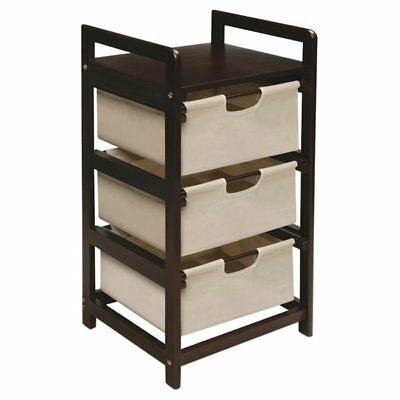 Badger Basket Espresso Three Drawer Hamper/Storage Unit