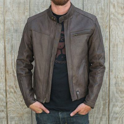 Brand New Triumph Kenny Casual Leather Moto Jacket - X-Large