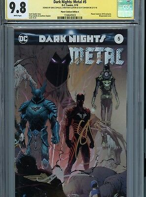 Dark Nights Metal #5 Planet Comicon Kansas City Edition Variant A Cgc 9.8 Ss Dc