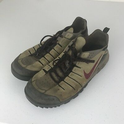 VTG 90s Nike Mens ACG Hiking Outdoors Walking Brown Purple Boot Shoes Sz 10