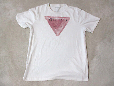 f90d35d041e8 Guess Jeans USA Shirt Adult Extra Large White Red Spell Out ASAP Mens 90s