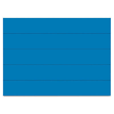 Dry Erase Magnetic Tape Strips, Blue, 6'' x 7/8'', 25/Pack