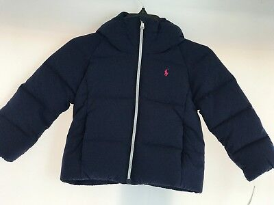Ralph Lauren Boys Navy Down Channel Quilted Puffer Coat Jacket($165) 3T,4T,5T,6T