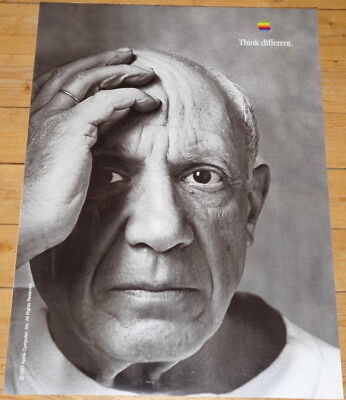 APPLE POSTER *THINK DIFFERENT * PABLO PICASSO * 28/20 inches MINT Steve Jobs