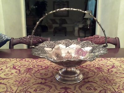 Vintage Silver/copper Bread/cake Basket Beautiful