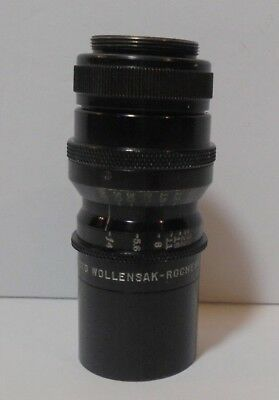 "Vintage WOLLENSAK 3"" inch F4 Cine-Telephoto Lens No. 452091 Rochester NY"