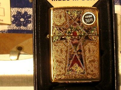 New ZIPPO Windproof Oil Lighter Christian Jesus 44484 Cross Fuzion HP Brass Case