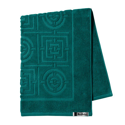 NEW Florence Broadhurst Circles & Squares Teal Bath Mat