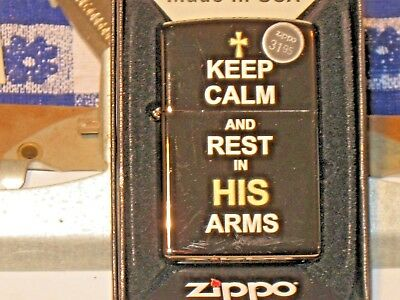 New ZIPPO Windproof Oil Lighter Christ Jesus 29610 Keep Calm & Rest in His Arms