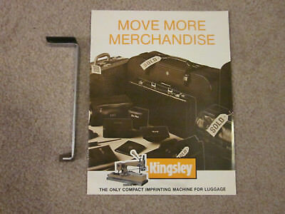 Kingsley Machine Leather Goods Clamp + Booklet ((FINAL REDUCTION))