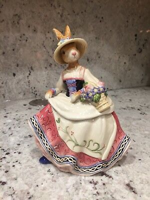 Fitz and Floyd Old World Rabbits Lidded Box