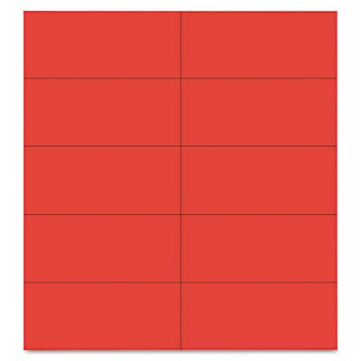 Dry Erase Magnetic Tape Strips, Red, 2'' x 7/8'', 25/Pack