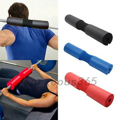 Foam Padded Barbell Bar Cover Pad Weight Lifting Shoulder Back Support Sport New