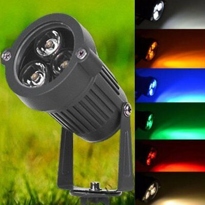 Waterproof LED Outdoor Landscape Garden Floodlight Spot Lights 3W 12V Yard BK
