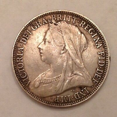- 1896 Great Britain Victoria Silver Florin - Sale Priced