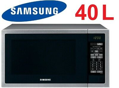 Samsung 40L 1000W Stainless Steel Microwave Oven Ceramic Interior - ME6144ST