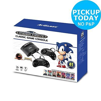Sega Mega Drive Classic Games Console With 81 Built-In Games, 2 Controllers