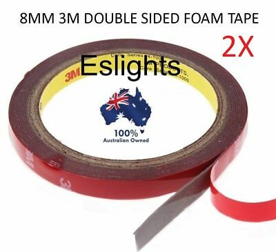 2X 3M Double Sided Acrylic Sticky Tape Strip Light 8Mm 3014 3528 550 5630 Rgb
