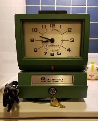 Acroprint Time Clock Electric Print NEW (Tested) Standard Time Recorder 125AR3