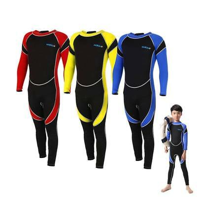 Neoprene Wetsuit for Kids Boy Girls Surfing Snorkling Diving One Piece Suit SD