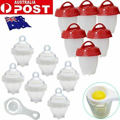 6 PCS Lettes Egg Hard Cooker Boil Eggs Cooker Eggies poacher Kitchen Tool BK