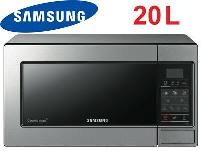 Samsung 20L 800W Stainless Steel Microwave Oven Ceramic Enamel Interior - ME73M