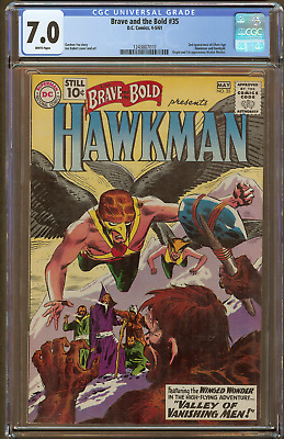 Brave and the Bold #35 (CGC 7.0 White Pages) 10 cent 1961 2nd Silver Age Hawkman
