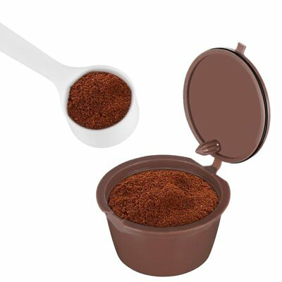 Refillable stainless steel Coffee Capsules Pods For Nescafe Nespresso Spoon
