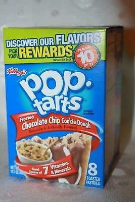 USA Kellogg's Pop Tarts Frosted CHOCOLATE CHIP COOKIE DOUGH (8 toaster pastries)
