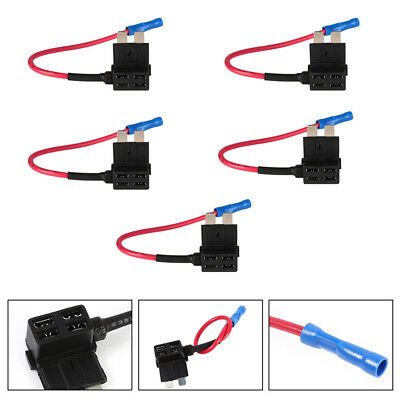 5X 15A Circuit Breaker Blade Fuse Automotive Back Tap For 2012 Volkswagen CC KR1