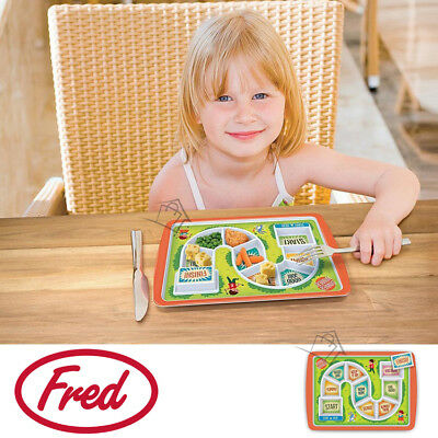NEW Fred Dinner Winner Kids Fun Plate Melamine Food-safe Feeding Aid Picky Eater